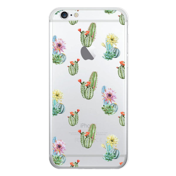iPhone 6/6s and iPhone 6/6s Plus Cactus Floral Clear Bumper Case