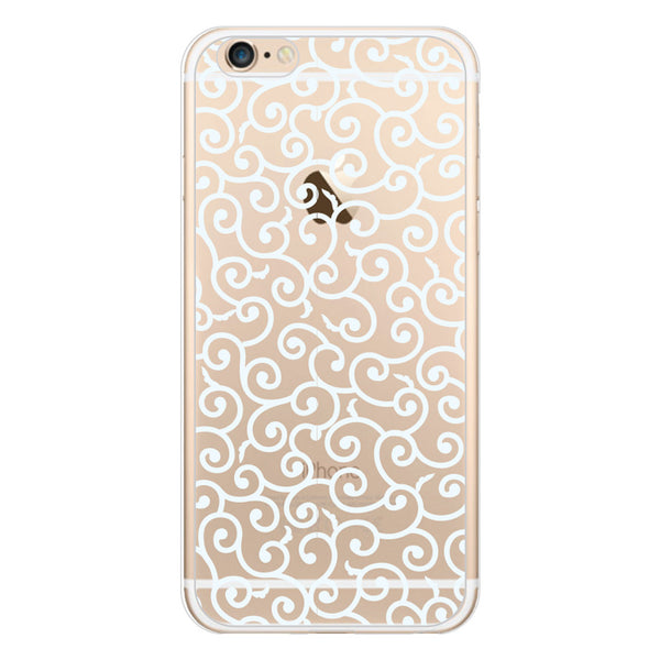 iPhone 6 and iPhone 6 Plus Swirl Lace Clear Bumper Case