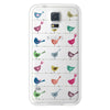 Samsung Galaxy S5 Rainbow Birds Clear Bumper Case