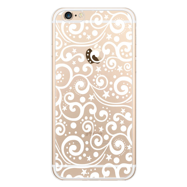 iPhone 6/6s and iPhone 6/6s Plus Ocean Waves Clear Bumper Case