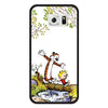 Samsung Galaxy S6 Calvin and Hobbes Nature Bumper Case