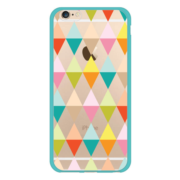 iPhone 6 and iPhone 6 Plus Geometric Shapes Turquoise Bumper Case