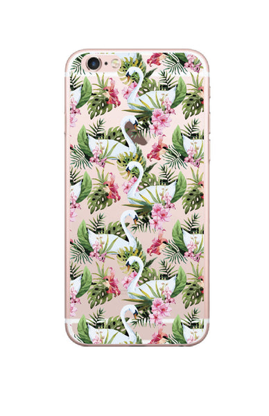 iPhone 6/6s and iPhone 6/6s Plus Swan Florals Bumper Case