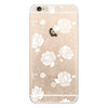 iPhone 6 and iPhone 6 Plus Floral Lace Clear Bumper Case