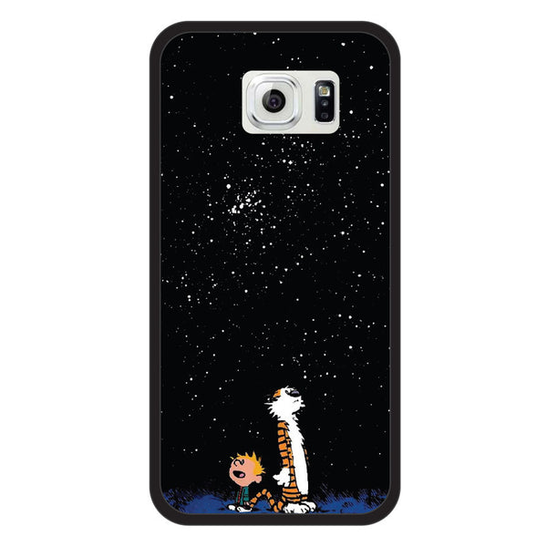 Samsung Galaxy S6 Calvin and Hobbes Bumper Case