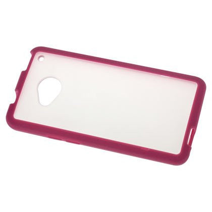 HTC One Hot Pink Bumper Frosted Case