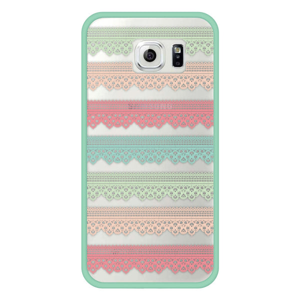 Samsung Galaxy S6 Mint Green Lace Bumper Case