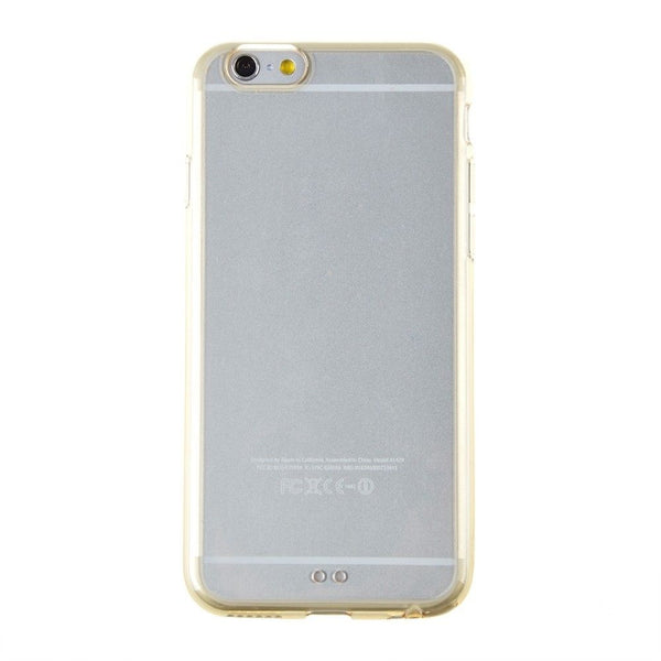 iPhone 6 and iPhone 6 Plus Transparent Gold Bumper Case
