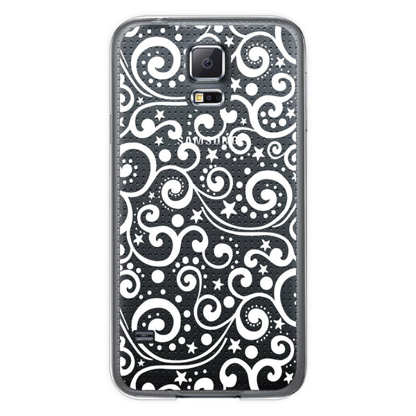 Samsung Galaxy S5 Ocean Waves Transparent Bumper Case