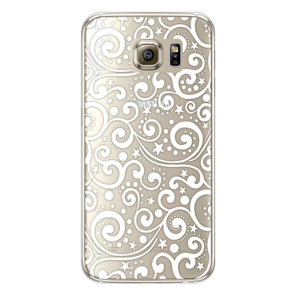 Samsung Galaxy S6 Ocean Waves Transparent Bumper Case