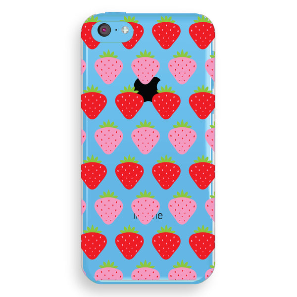 iPhone 5c Strawberries Transparent Cap Case