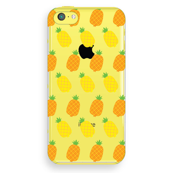 iPhone 5c Pineapples Transparent Cap Case