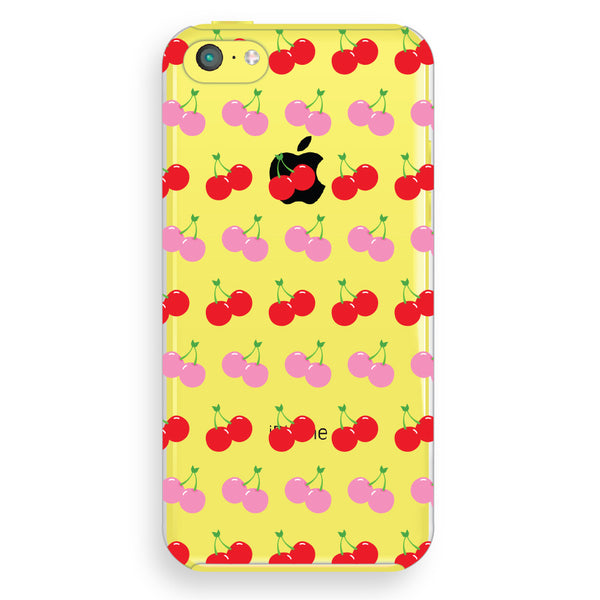iPhone 5c Cherries Transparent Cap Case