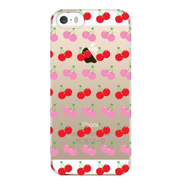 iPhone 5 and iPhone 5s Cherries Transparent Cap Case