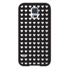 Samsung Galaxy S5 Clear Tiny Hearts Transparent Bumper Case