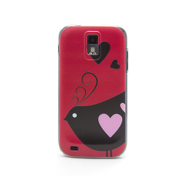 T-Mobile Samsung Galaxy S2  Bird Hearts Red Case - Ashby Chirp Case