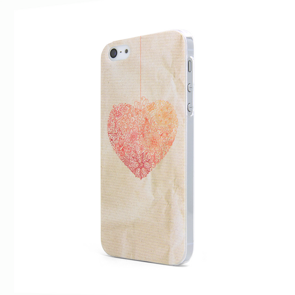 iPhone 5 and iPhone 5s Case in Heart Lace Design