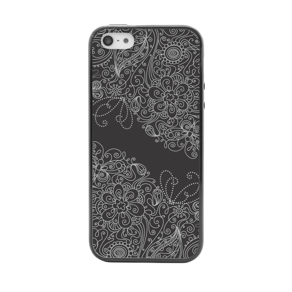 iPhone 5 and iPhone 5s Black Floral Lace Bumper Case