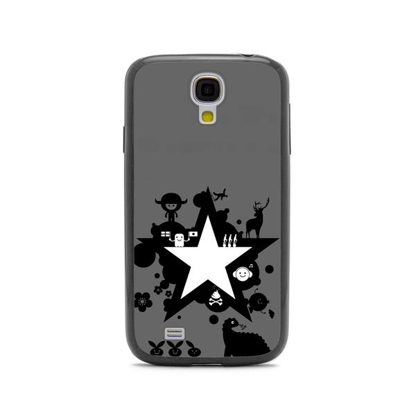 Samsung Galaxy S4 Star Space Anime Black Bumper Case