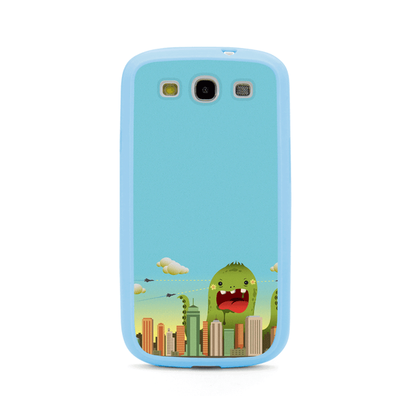 Samsung Galaxy S3 Blue Monster Comic Bumper Case