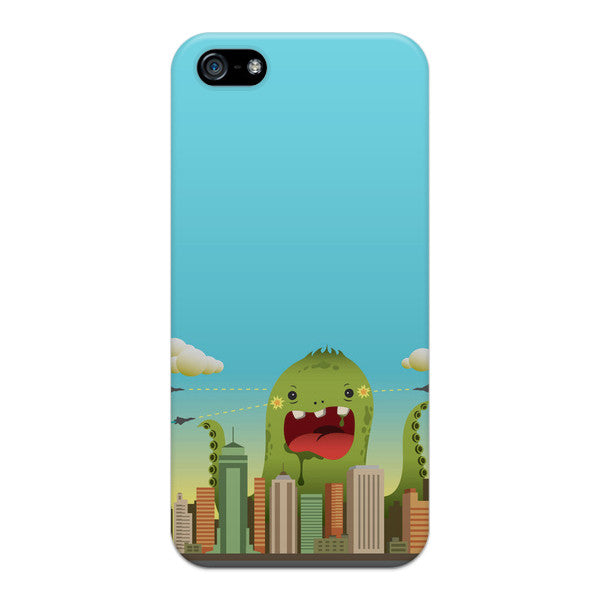 iPhone 5 and iPhone 5s Blue Comic Monster Case - Attack Invasion Case