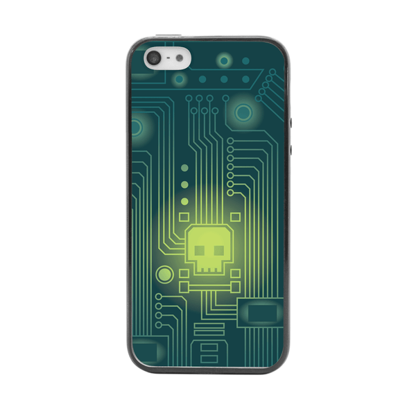 iPhone 5 and iPhone 5s Skull Virus Bumper Case