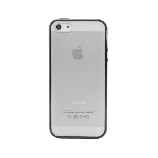 iPhone 5 and iPhone 5s Black Bumper Frosted Case