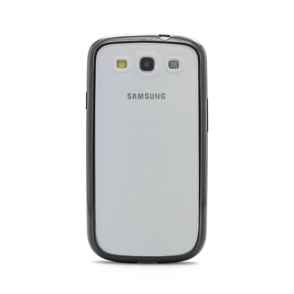 Samsung Galaxy S3 Black Bumper Frosted Case