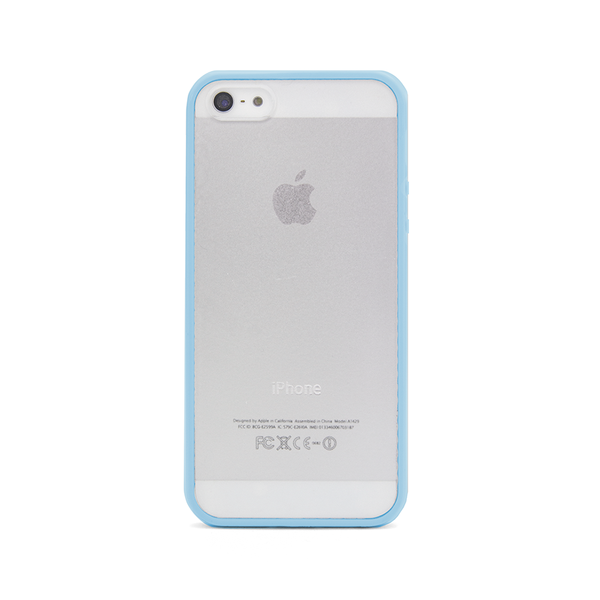 iPhone 5 and iPhone 5s Blue Bumper Frosted Case