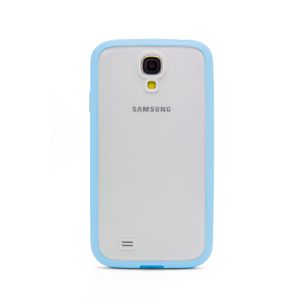 Samsung Galaxy S4 Blue Bumper Frosted Case