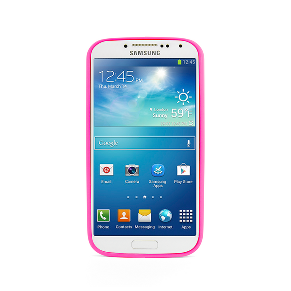 Samsung Galaxy S4 Hot Pink Bumper Frosted Case