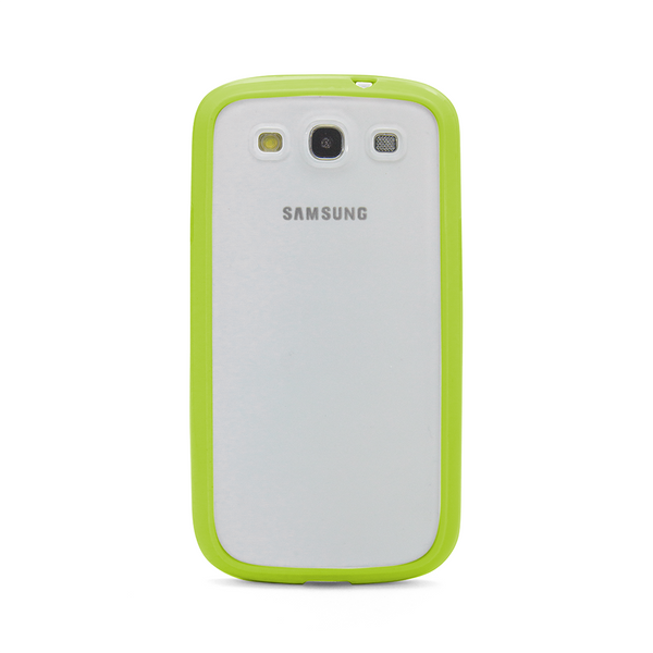 Samsung Galaxy S3 Lime Green Bumper Frosted Case