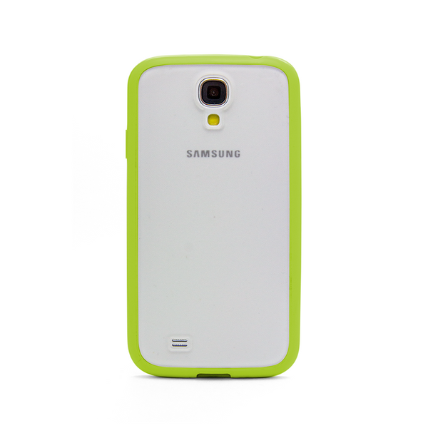 Samsung Galaxy S4 Lime Green Bumper Frosted Case