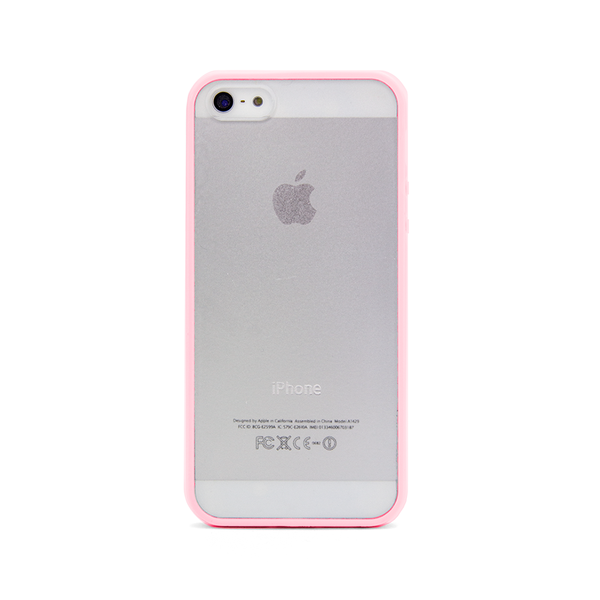 iPhone 5 and iPhone 5s Pink Bumper Frosted Case
