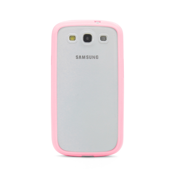 Samsung Galaxy S3 Pink Bumper Frosted Case