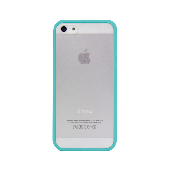 iPhone 5 and iPhone 5s Teal Turquoise Bumper Frosted Case