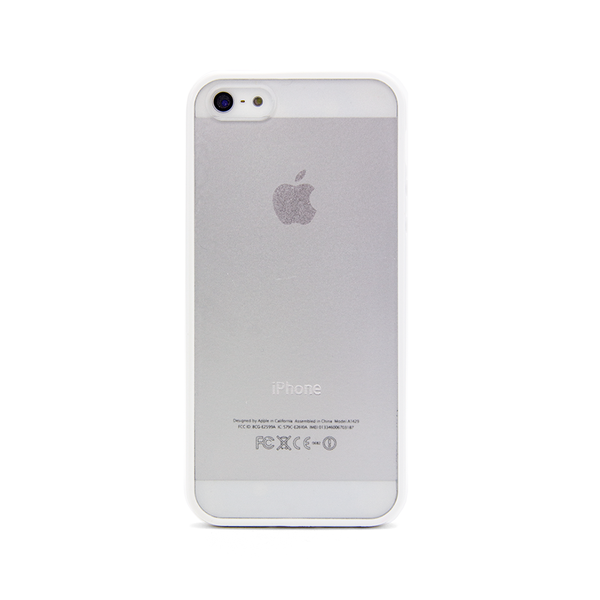iPhone 5 and iPhone 5s White Bumper Frosted Case