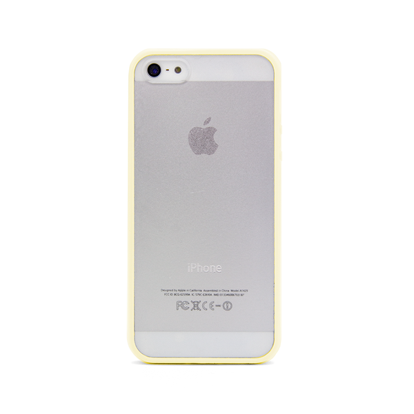 iPhone 5 and iPhone 5s Yellow Bumper Frosted Case