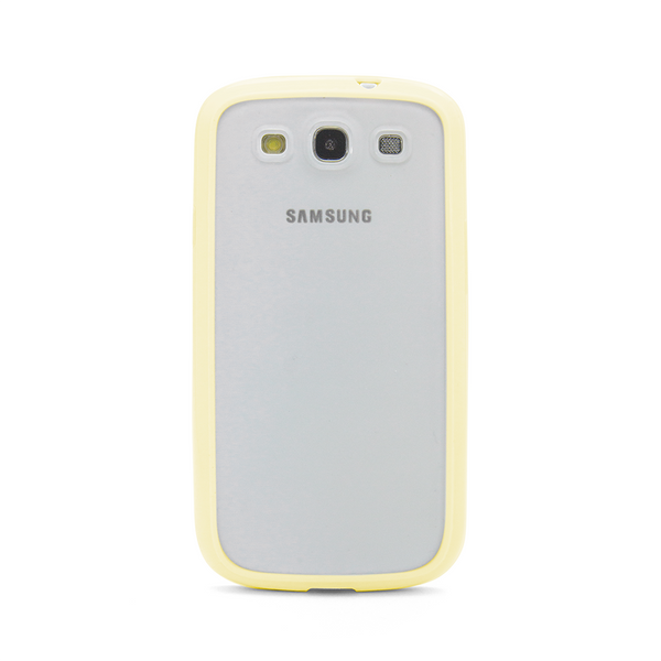 Samsung Galaxy S3 Yellow Bumper Frosted Case