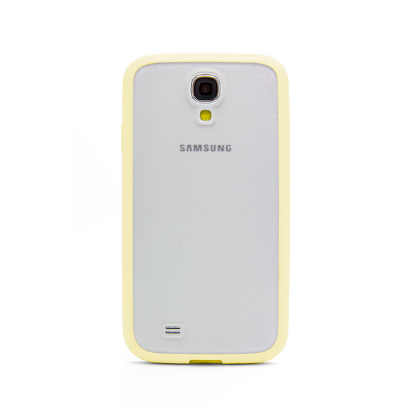 Samsung Galaxy S4 Yellow Bumper Frosted Case