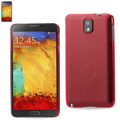 Samsung Galaxy Note 3 Red Frosted Cap Case