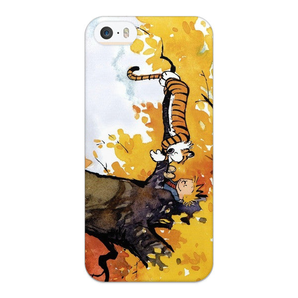 iPhone 5 and iPhone 5s Calvin and Hobbes Sleeping in a Tree Case