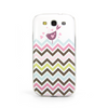 Samsung Galaxy S3 Chevron Rainbow Bird Case - Chevron Veris Case