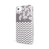 iPhone 4 and iPhone 4s Gray Chevron Floral Case - Chevron Willow Case