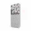 iPhone 5 and iPhone 5s Gray Chevron Floral Case - Chevron Willow Case