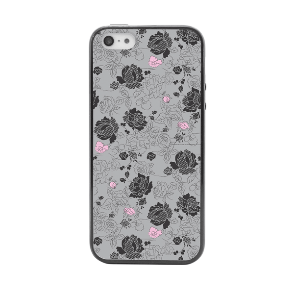 iPhone 5 and iPhone 5s Black Floral Bumper Case