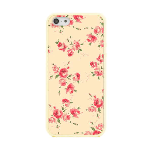 iPhone 5 and iPhone 5s Ivory Floral Bumper Case