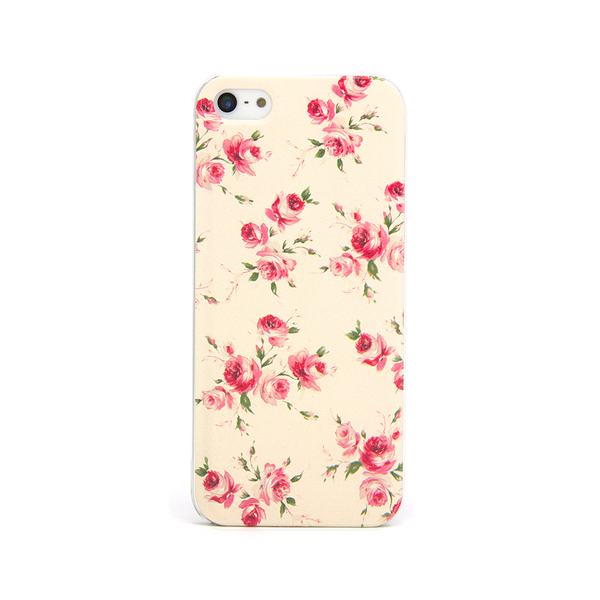 iPhone 5 and iPhone 5s Vintage Floral Red Roses Case