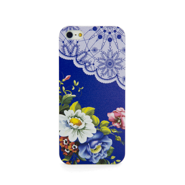 iPhone 5 and iPhone 5s Vintage Floral Blue Lace Case - Duchess Harlow Case