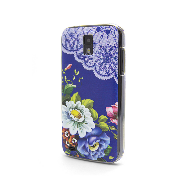 T-Mobile Samsung Galaxy S2 Vintage Floral Blue Lace Case - Duchess Harlow Case